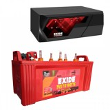 EXIDE MAGIC 825VA HOME UPS + EXIDE INSTA BRITE IB1350